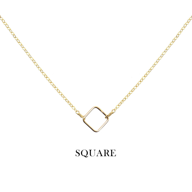 [Lucky Charm] Square Necklace-Lucky Charm Necklace-La Meno