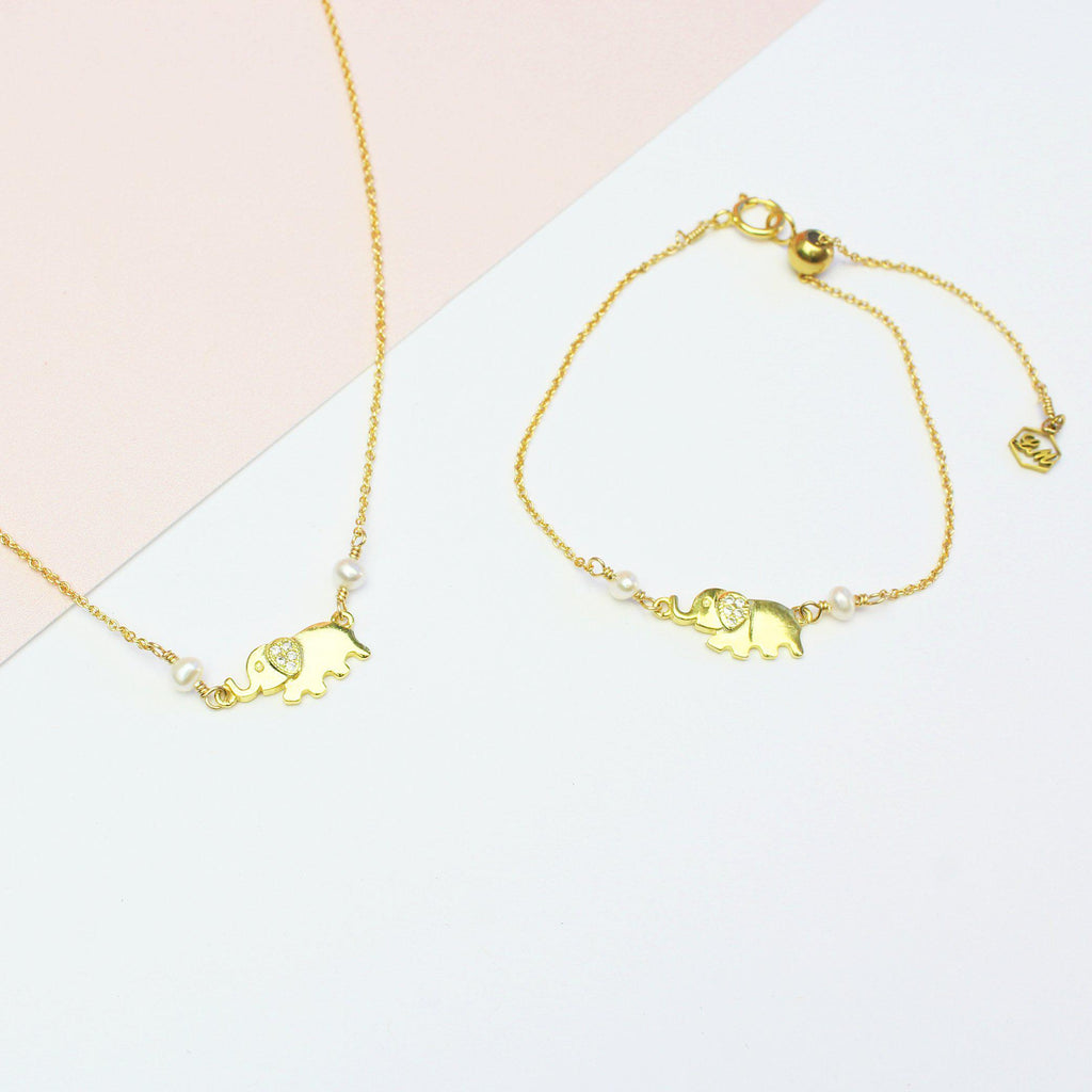 Lucky Elephant Set-Jewelry Set-La Meno