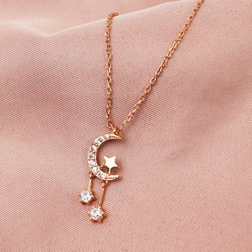 Luna & Star Pendant Necklace-Limited Edition-La Meno