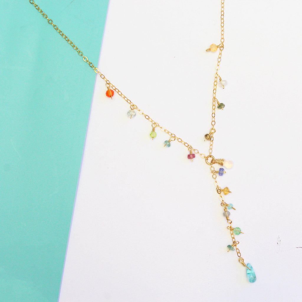 Luxe Treasure Necklace: Flower Field-Adorn Necklace-La Meno