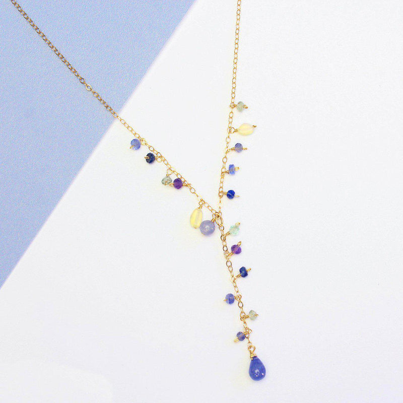 Luxe Treasure Necklace: Lavender-Adorn Necklace-La Meno