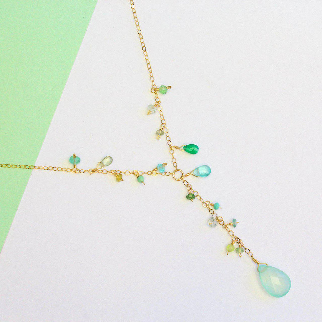 Luxe Treasure Necklace: Summer Waves-Adorn Necklace-La Meno