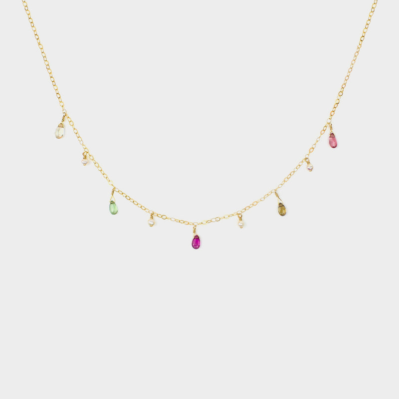MiniDot Necklace: Colorful Sky-Adorn Necklace-La Meno
