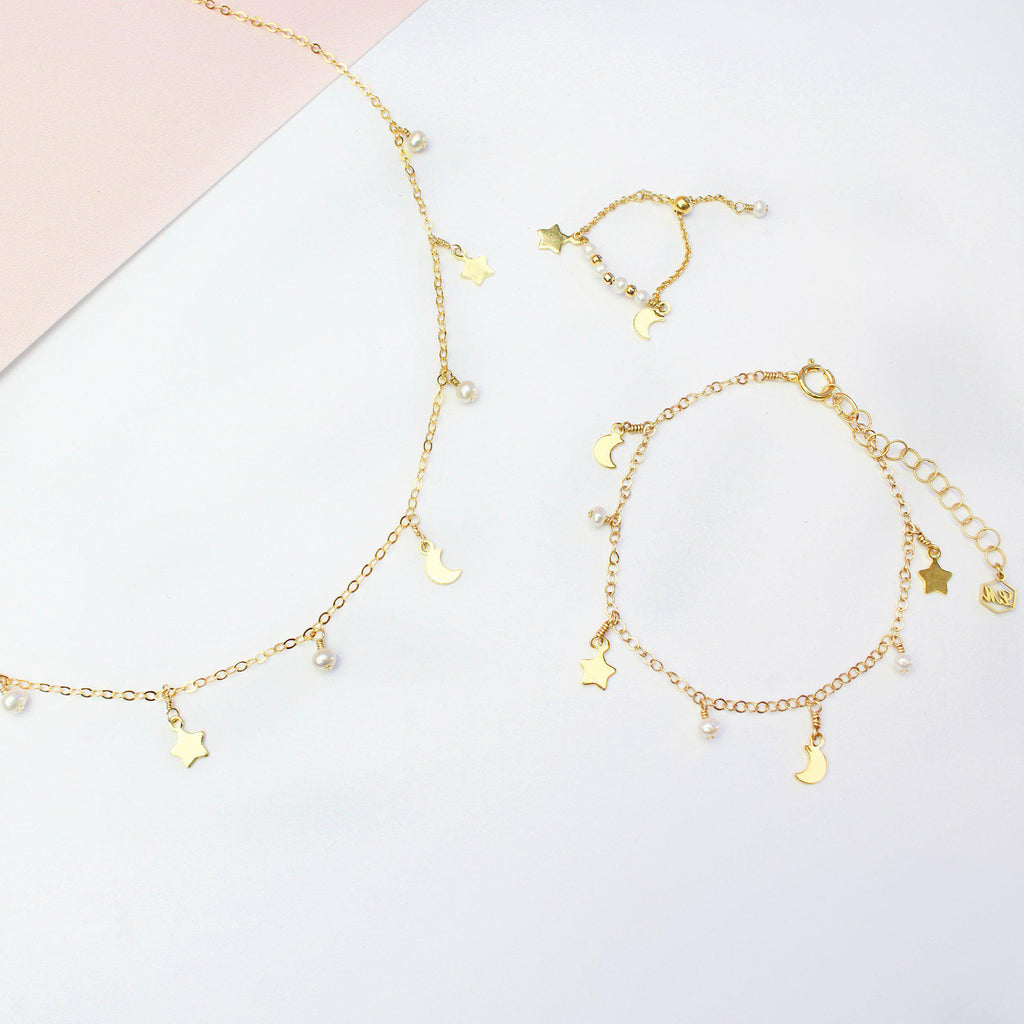 Moon & Star Set-Jewelry Set-La Meno