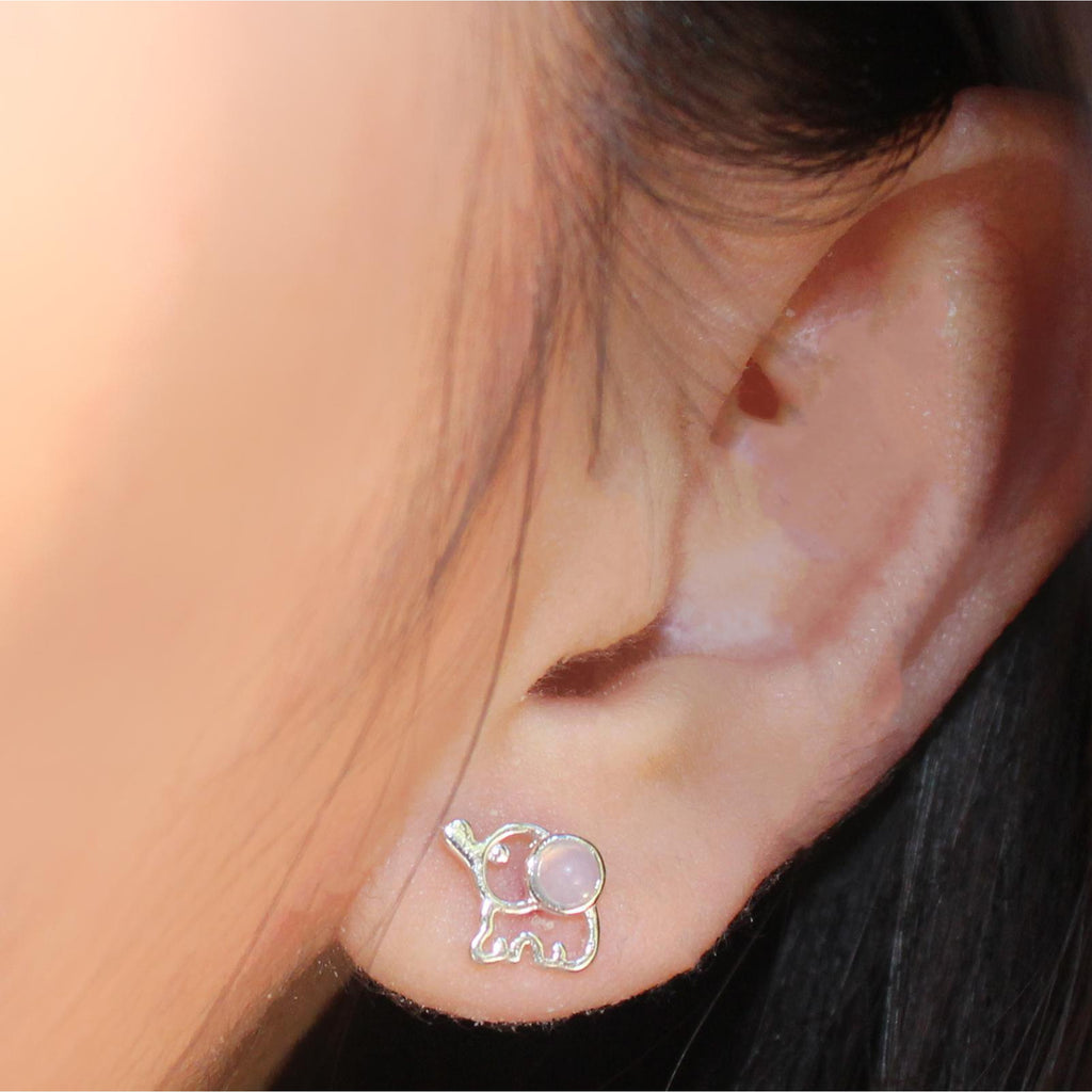 Opal Elephant Earring-Limited Edition-La Meno