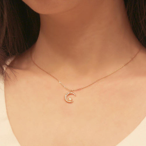 Opal Moon Necklace-Limited Edition-La Meno