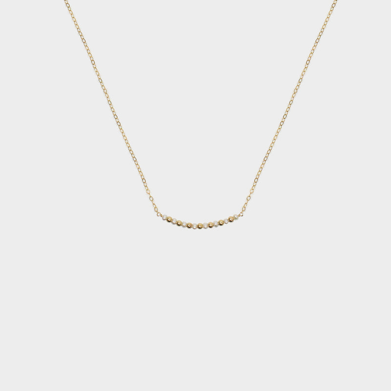 Pearl Bar Necklace-Adorn Necklace-La Meno