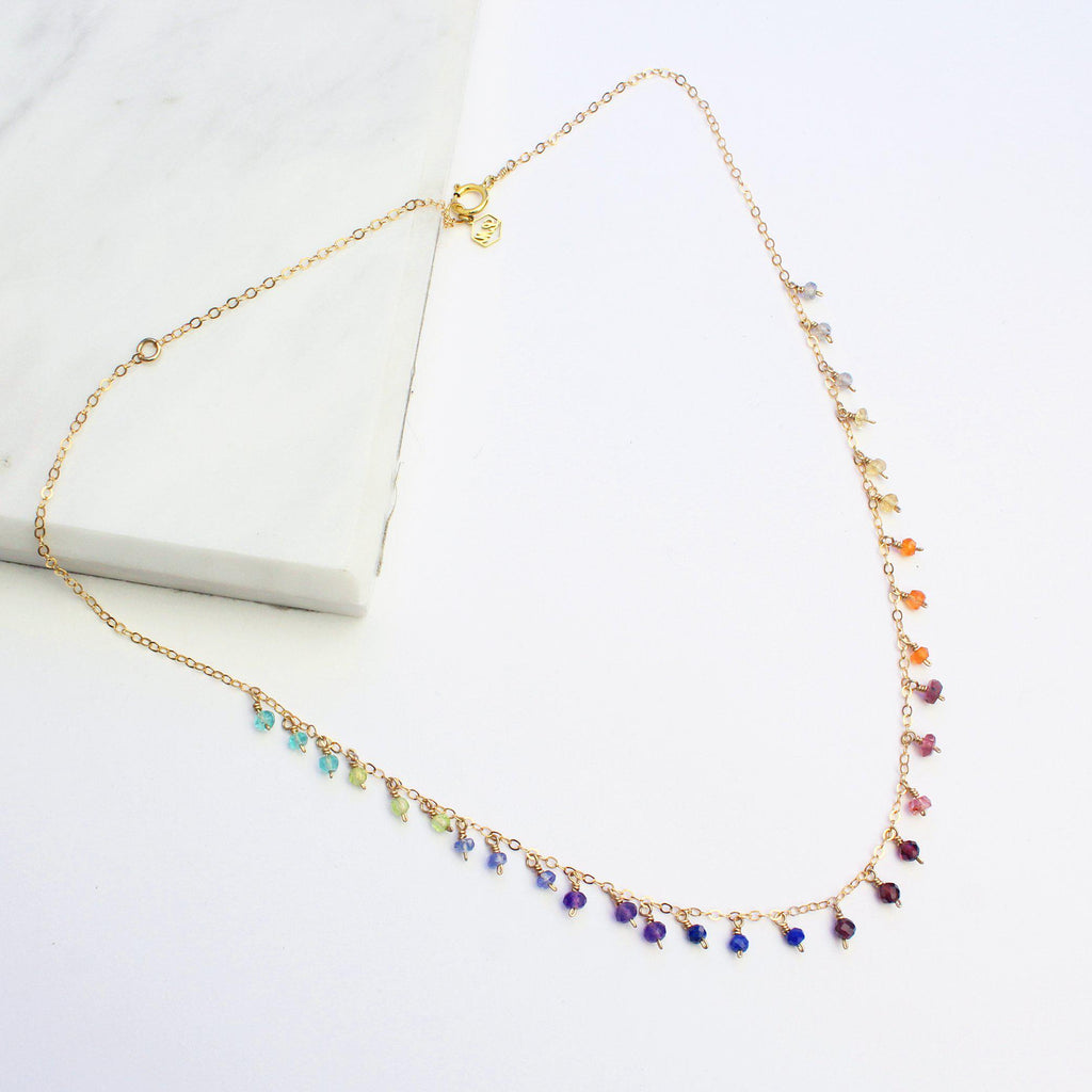 Rainbow All the Way-Adorn Necklace-La Meno