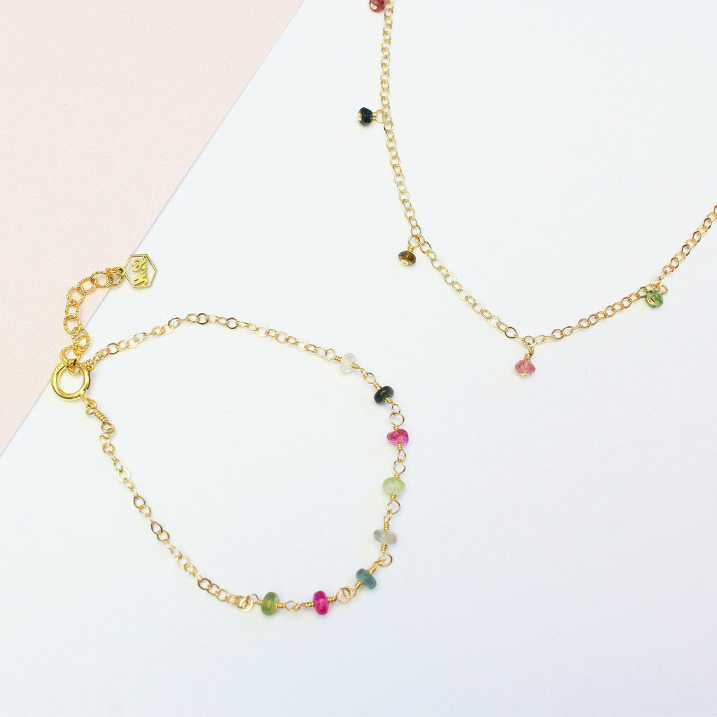 Rainbow Tourmaline Set-Jewelry Set-La Meno