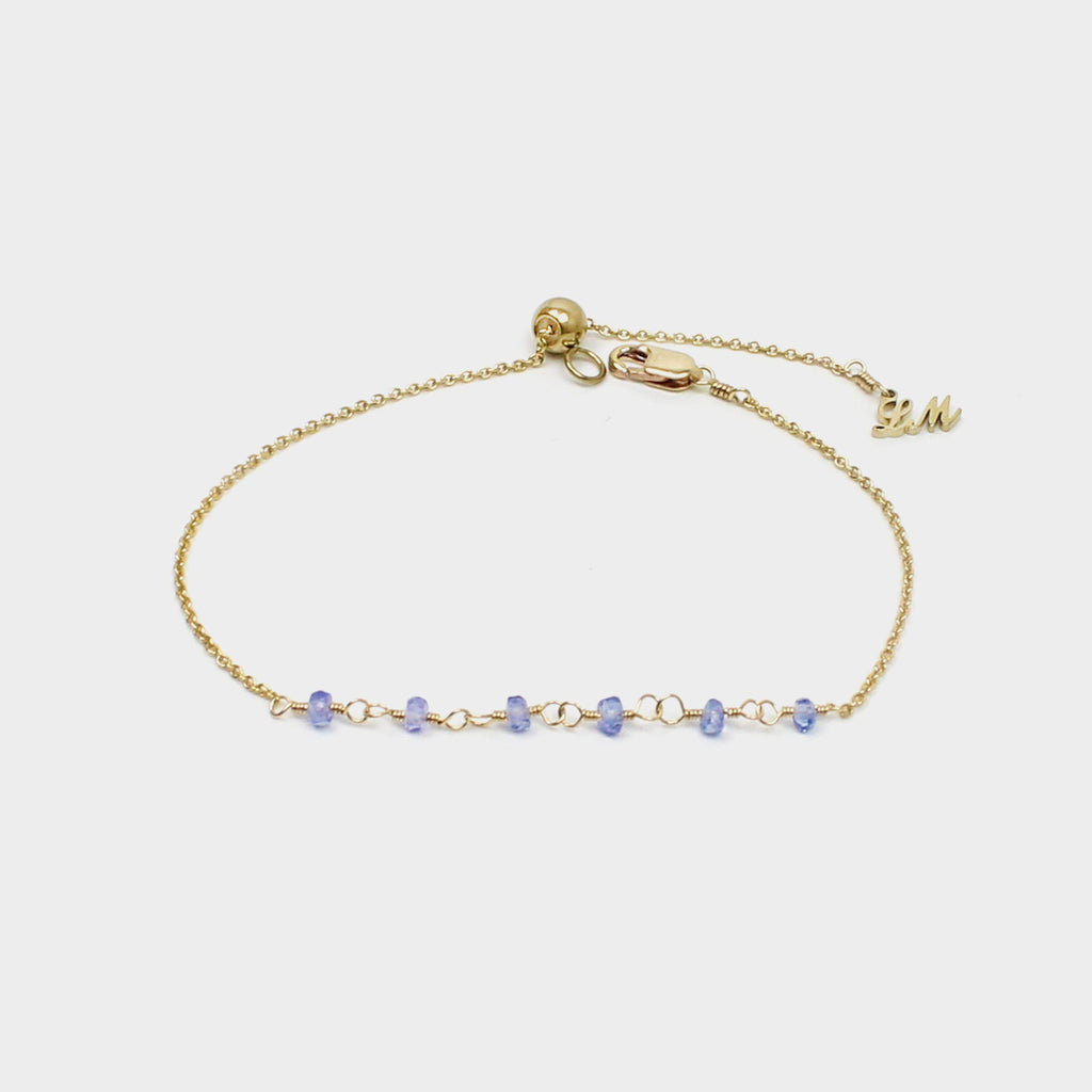 Simple Tanzanite Bracelet-Adorn Bracelet-La Meno