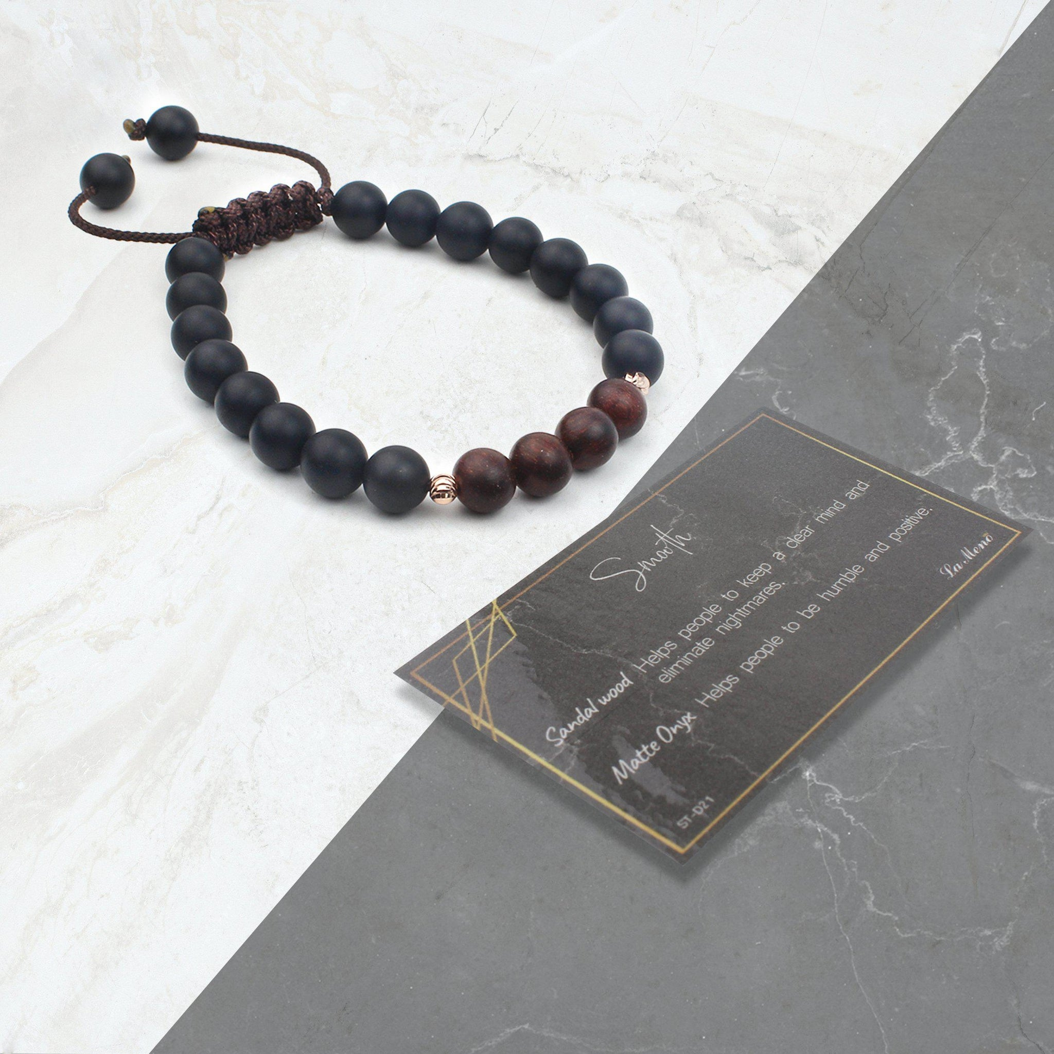 Smooth-Energy Stone Bracelet-La Meno