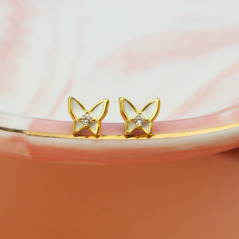 Snow White Butterfly Earrings-Limited Edition-La Meno