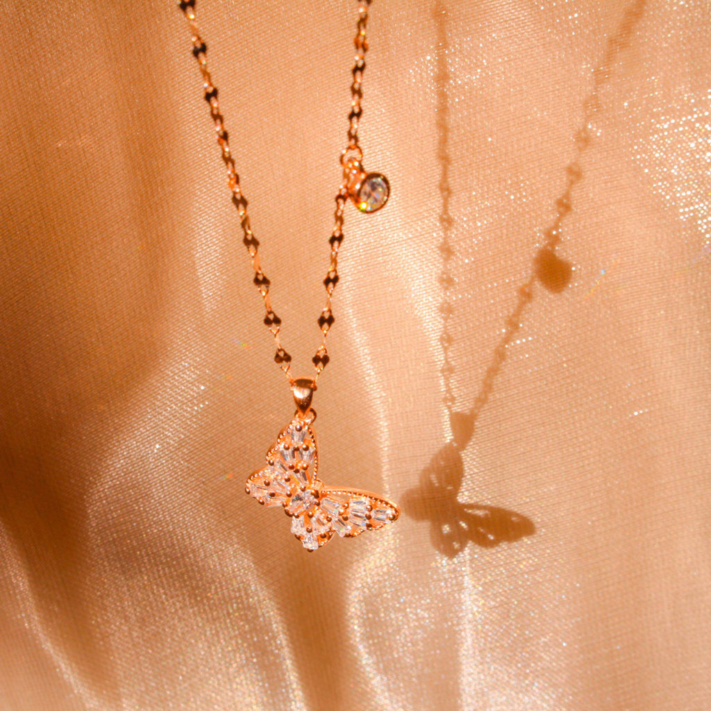 Sparkle Butterfly Necklace-Limited Edition-La Meno