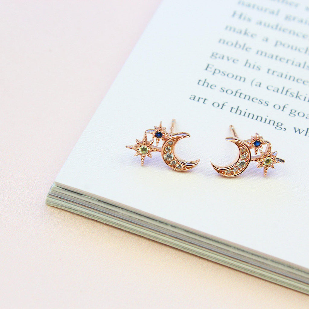 Sparkle Moon & Star Earring-Limited Edition-La Meno
