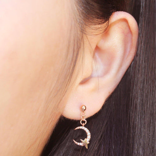 Star on Moon Earring-Limited Edition-La Meno