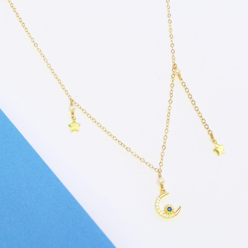 Star Twins Necklace-Adorn Necklace-La Meno