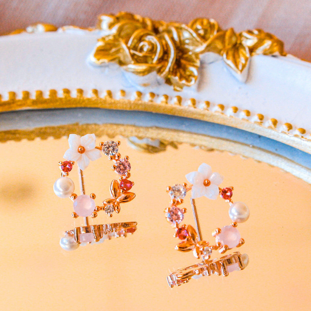 Delicate Floral Earring-Limited Edition-La Meno