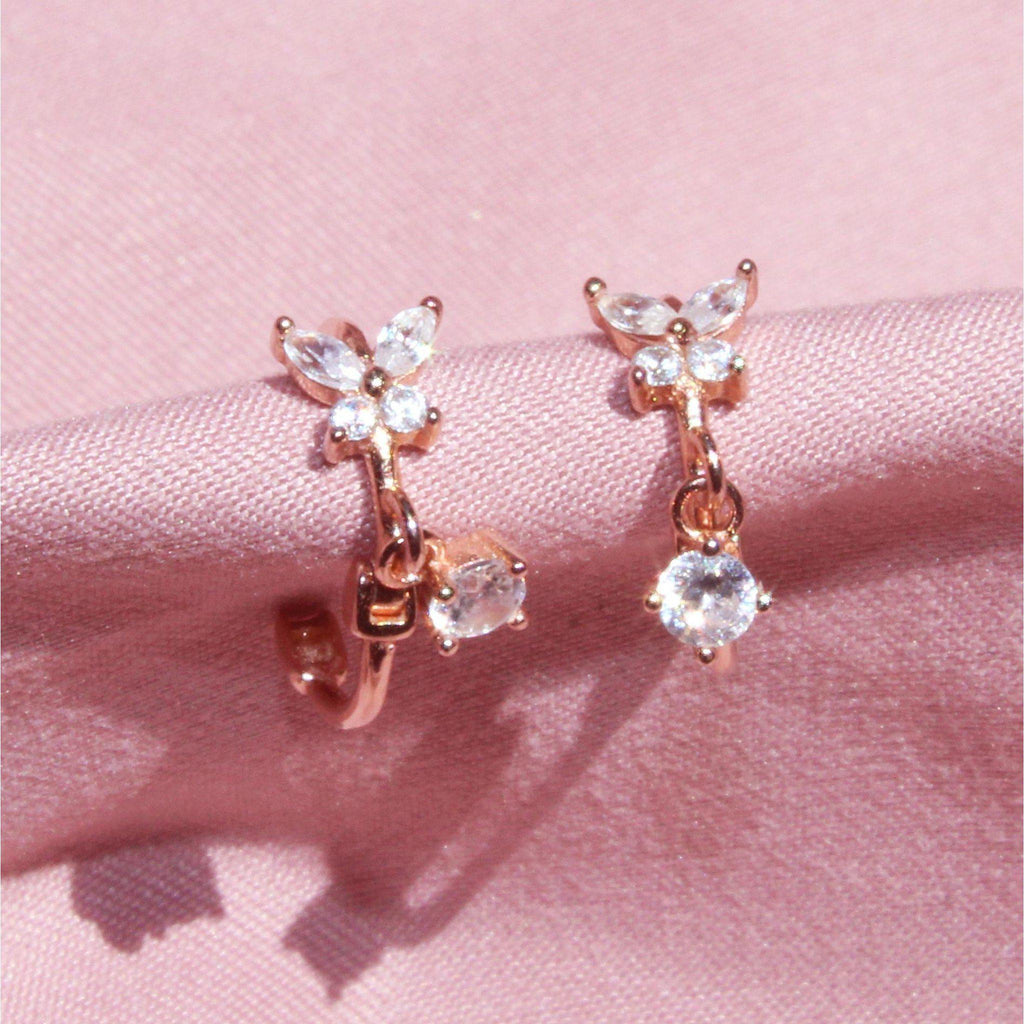 Tiny Butterfly Hoop Earring-Limited Edition-La Meno