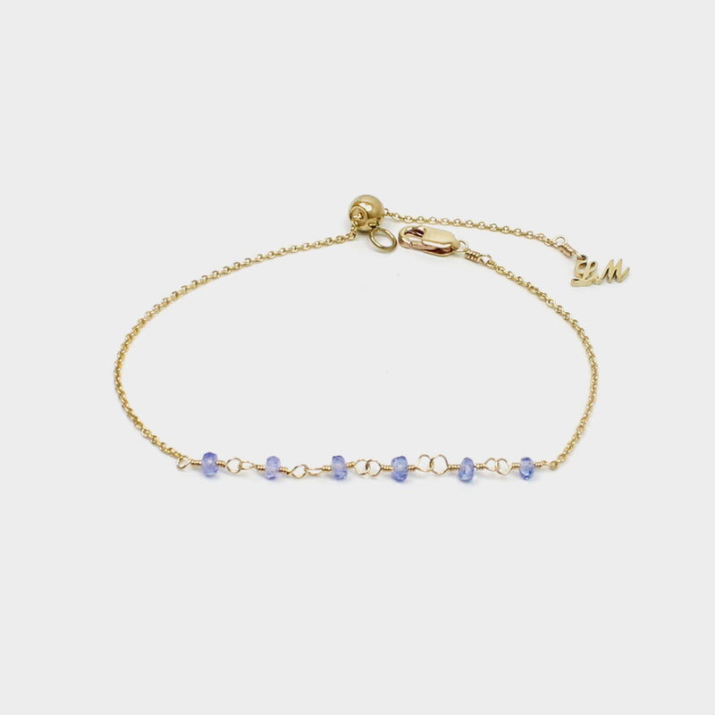 Y Shape Necklace: Tanzanite-Adorn Necklace-La Meno