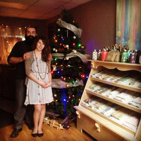 Judith & Justin of Bubbles & Balms at Their Holiday Store in Claresholm, AB in 2015