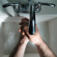 Washing hands with Natural Soap