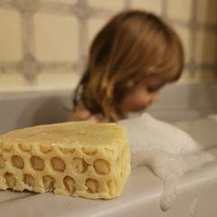 Baby in Bath with Honey & Oats Bar