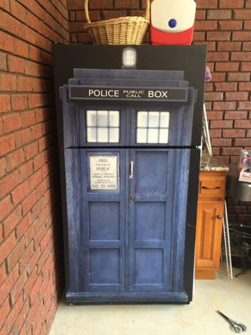 Tardis Refrigerator or door wrap