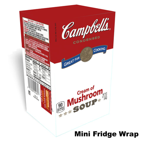 Campbells Cream of Mushroom mini fridge wrap