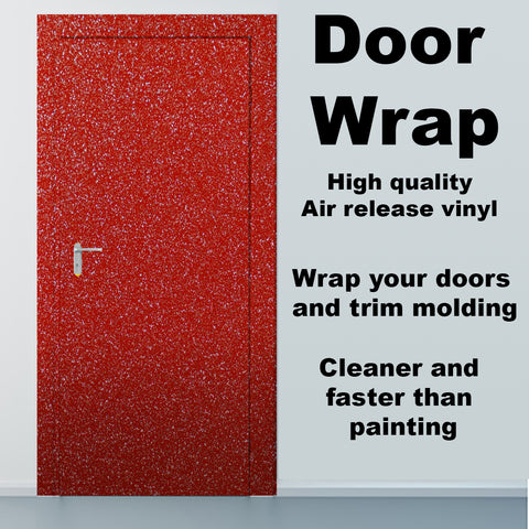 Diamond Red Vinyl Door wrap
