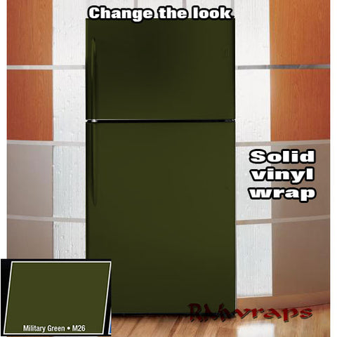 Military matte Refrigerator color wrap