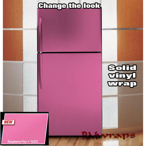 Raspberry fizz Refrigerator color wrap