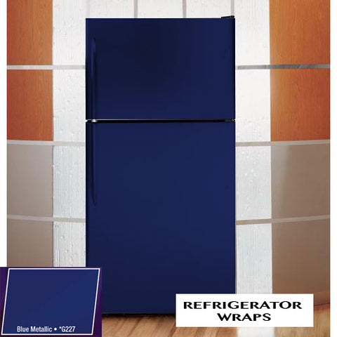 Blue metallic Refrigerator color change vinyl