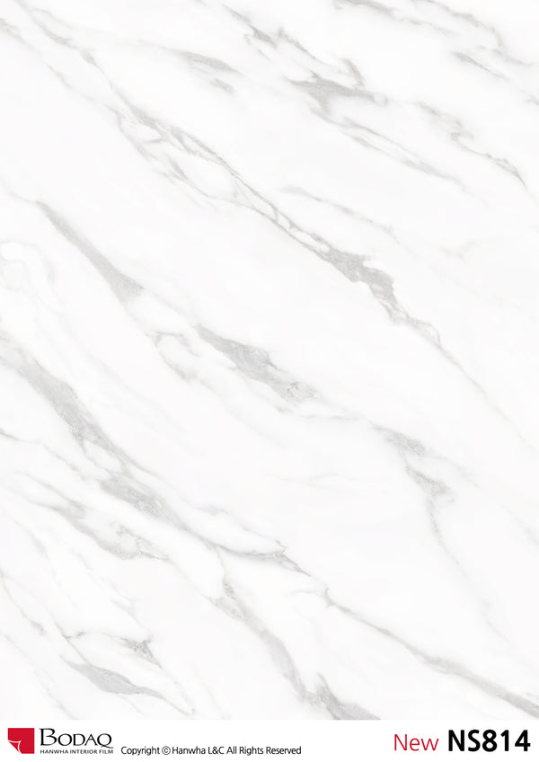 Bodaq NS814 Arabescato Stone Marble Interior Film Architectural Finishes