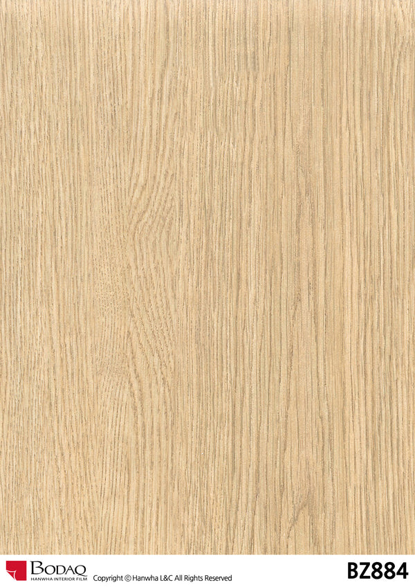 Bodaq BZ884 Oak Grain Rich Wood Interior Film Architectural Finishes