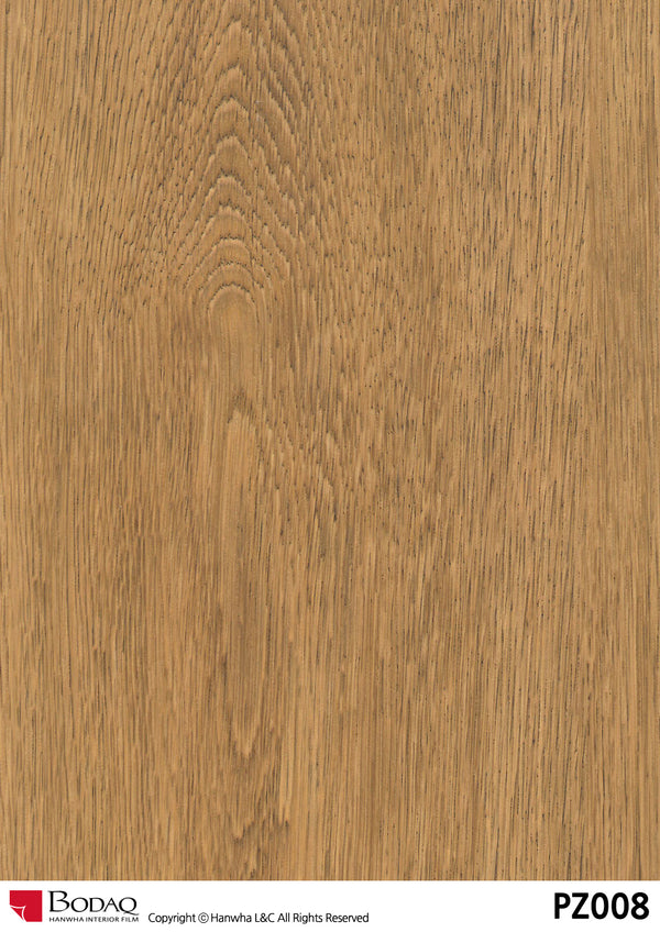 Bodaq pz008 Oak Grain Rich Wood Interior Film Architectural Finishes