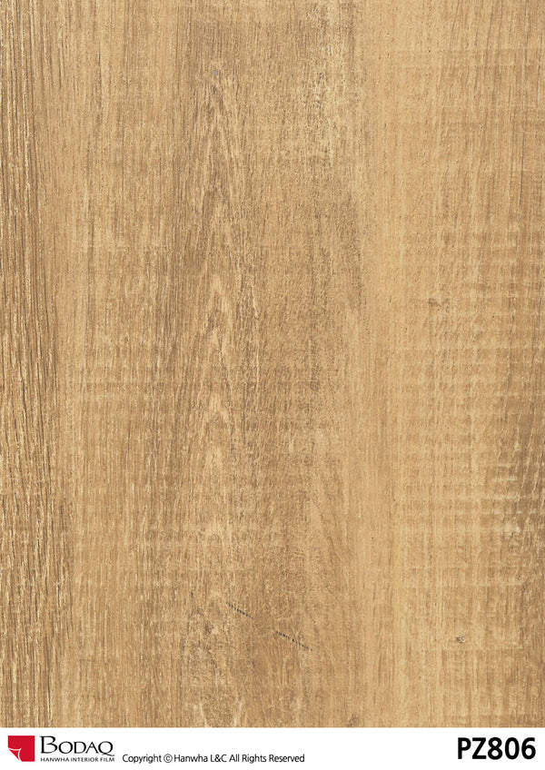 Bodaq pz806 Oak Grain Rich Wood Interior Film Architectural Finishes