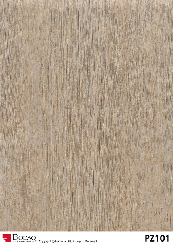 Bodaq PZ101 Vintage wood Grain Rich Wood Interior Film Architectural Finishes