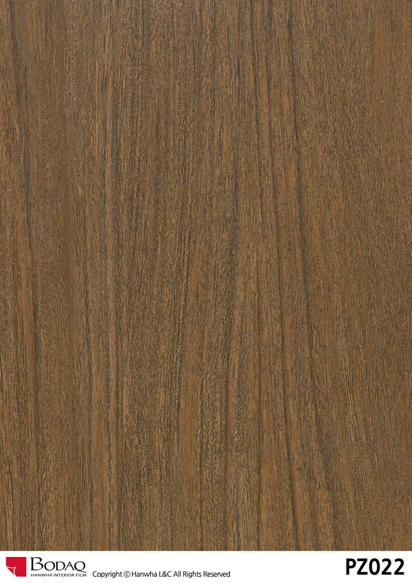 Bodaq PZ022 walnut wood Grain Rich Wood Interior Film Architectural Finishes