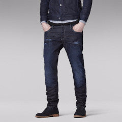 3301 LOW TAPERED DARK AGED DENIM