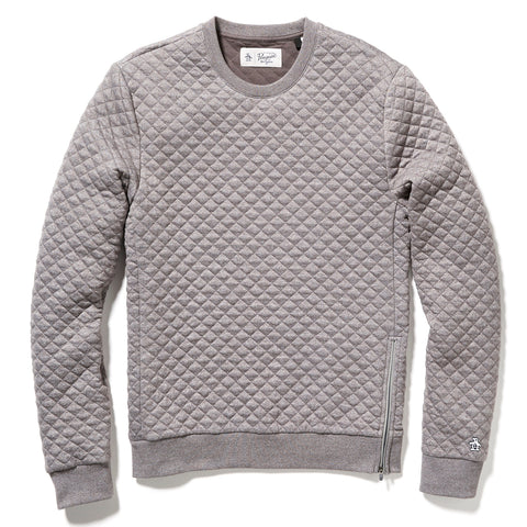 QUILTED CREW NECK SWEAT