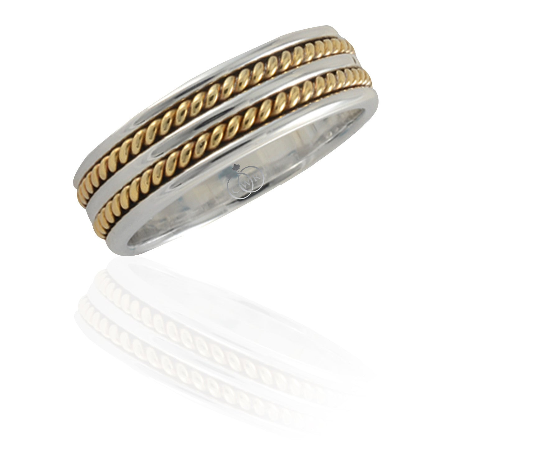 Gold Mens Wedding Bands
