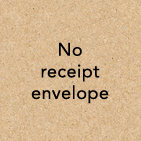 no receipt envelope
