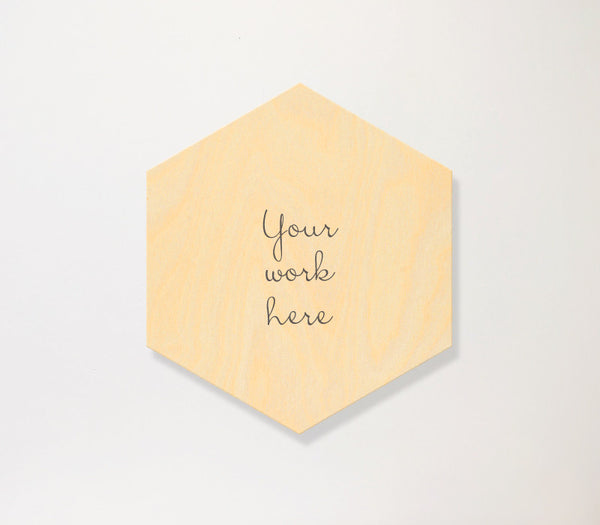 Custom Printing Hexagon Birch Wood Art Panel - Art Print Club