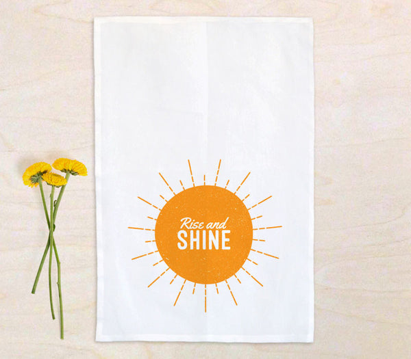 100% Cotton Flour Sack Tea Towel with Custom Printing