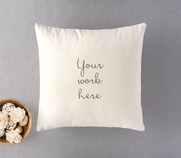 100% Natural Cotton Twill Cushion with custom print - Art Print Club