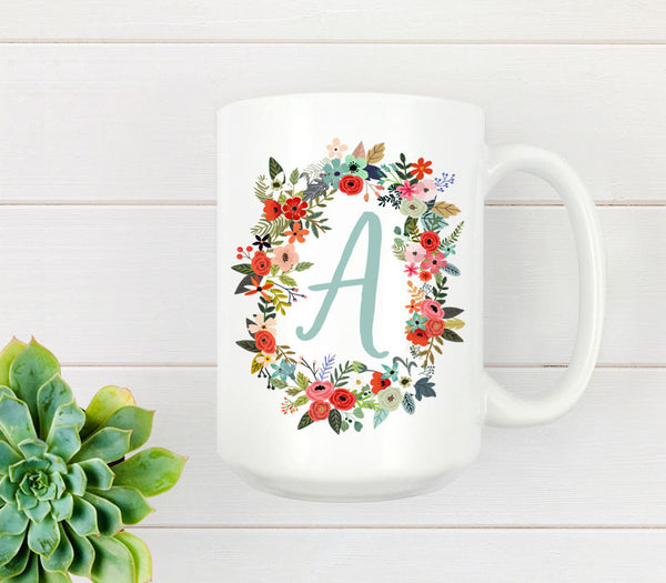 15oz bright white ceramic mug with custom print