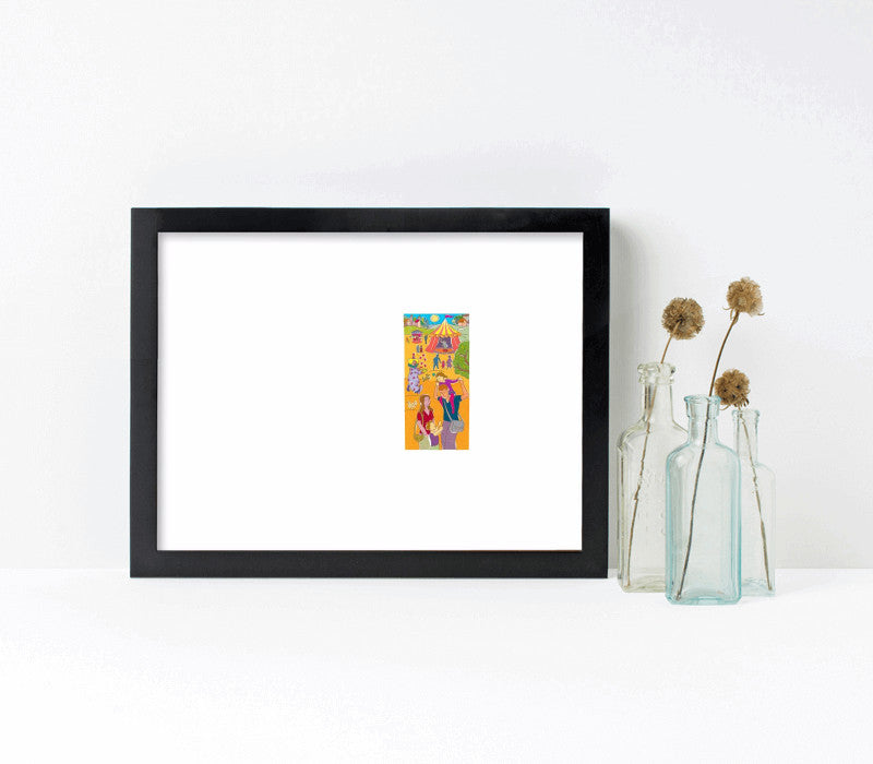 12x9-black frame with archival print - Art Print Club
