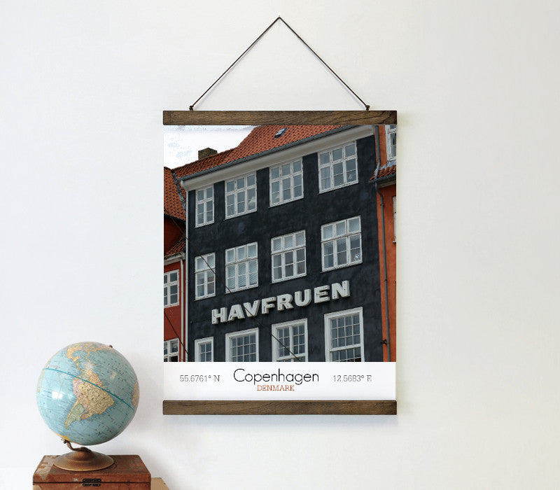 Schoolhouse Poster Bars with custom canvas print - Art Print Club