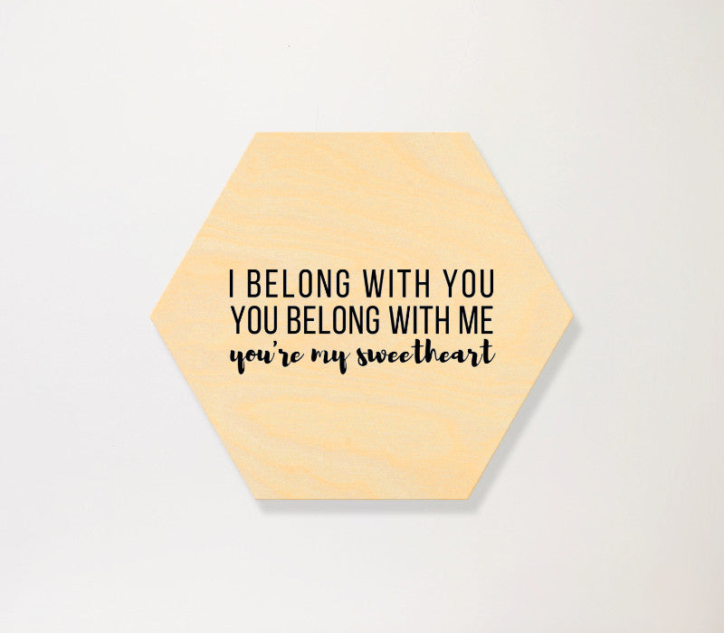 Hexagon Birch Panel-horizontal - Art Print Club