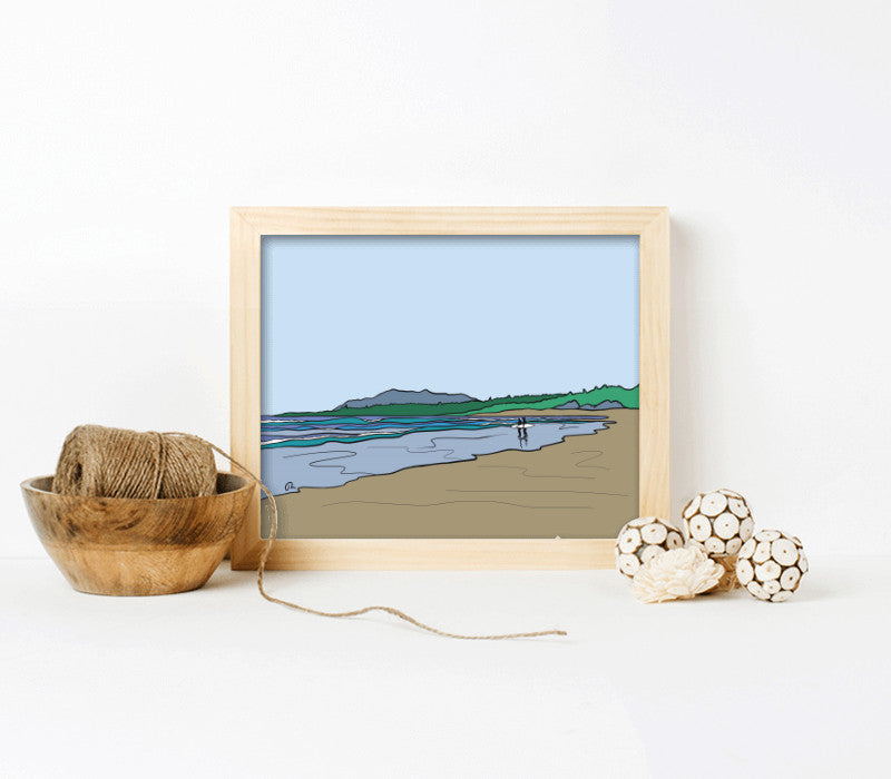 10x8-Natural pine frame with archival print-t - Art Print Club